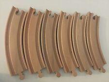 6 nuovi pezzi di curva in legno Treno Binario Ferroviario si adatta Brio Thomas GIOSTRA M3