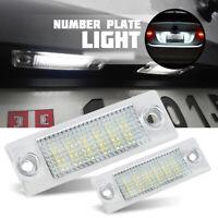 NEW 2x LED License Number Plate Light For VW T5 Caddy Golf Jetta Passat Skoda