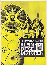 Broschüre luftgekühlte Klein - Dieselmotoren Cunewalde 1 KVD 8 SL 1968 DDR !