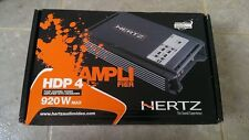 Hertz HDP4 Car Audio Amplifier 4 Channel - 4 x 150w RMS FREE UPS SHIPPING