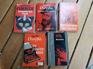 Agatha Christie, Goldmanns Taschen-Krimi, 5 Bände 60er Jahre