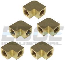 "Brass Elbow Fitting 90 Degree 3/8"" Female Npt Pipe Thread Tubing Air Fuel Qty 5"