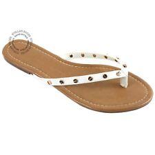 Womens Summer Cute Gold Plated Cartier Stud Thong Sandal Slipper Flip Flops
