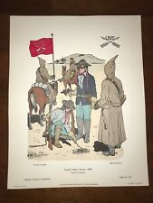 Military Uniforms in America Print #312 1968 United States Scouts 1890 Hoseney