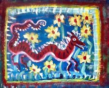 A dragon visited the garden today 4x6 Postcard Art Print Signed by Artist Ltd Ed