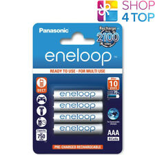 4 PANASONIC ENELOOP RECHARGEABLE AAA HR03 BATTERIES BLISTER PACK 1.2V 800mAh NEW