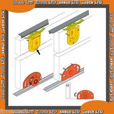 Fast 3 porte coulissante système d'engrenages 50 kg / 2500mm (3 portes) Brosse pile gratuit