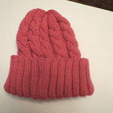 Woman / Girls Sparkle Knit  Beanie Ski Skull  Hats 3 Colors  Pink Purple Black