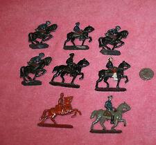 """8 Vintage Lead & Metal Horse Solders 2.5"""" Tall"""
