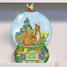 Disney A Mothers Love is Very Deer Bambi Miniature Snow Globe Bradford Exchange
