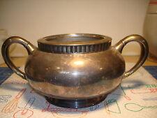 Sugar Bowl Eg Webster & Son Quadruple Plate 2 Handled