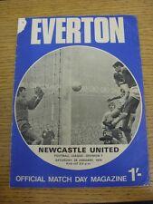 24/01/1970 Everton v Newcastle United  (folded, pin hole, corner worn off).  Thi