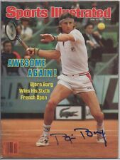 BJORN BORG signed 1981 Sports Illustrated AUTOGRAPH NEWSSTAND NL French Open