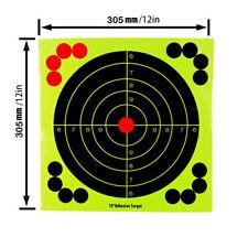 5pcs 12inch Reactive Splatter Target Gun Rifle Shooting Glow Shot Training Paper