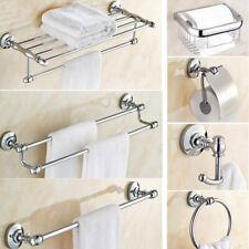 Conjunto de hardware de baño de cromo pulido accesorios de baño toalla Bar Anillo Soporte