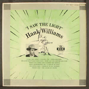 """HANK WILLIAMS: i saw the light MGM Records 12"""" LP 33 RPM"""