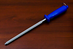 "12.5"" Sharpening Rod Knife Sharpener Steel Rod Professional Kitchen Tool Diamond"