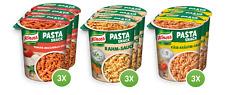 Knorr 9 x Snackbecher vegetarisch Fertiggericht Pasta Snack Essen Mahlzeit