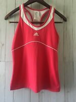 Adidas Women's Pink  and White Tank Top Sz M