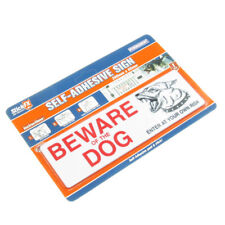 Beware Of The Dog` Enter At Own Risk Sign New Self Adhesive Plastic Sticker