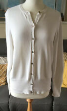 Gant Womens White Cotton Long Sleeve Cardigan Size L