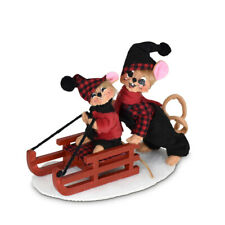Annalee Dolls 2021 Christmas 5in Winter Woods Sledding Mice Plush New with Tag