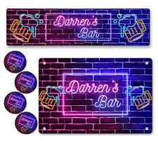 More details for personalised bar runner sign coaster any name garden plaque gift bar pub 262