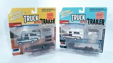 New ListingJohnny Lightning Truck and Trailer 1993 Ford F-150 Camper And Open Car Lot of 2
