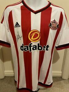 Signed Wes Brown Sunderland 2015 16 Autograph Shirt Manchester United England