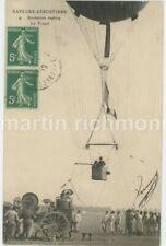 Sapeurs Aerostiers Ascension Captive Le Treuil France Balloon Postcard B938