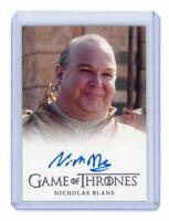 Game of Thrones Season 3 Nicholas Blane as Spice King FB Auto Autograph Card