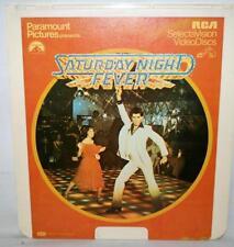 "VINTAGE CED VIDEODISC ""SATURDAY NIGHT FEVER"" RCA VIDEODISCS W/JOHN TRAVOLTA LD"