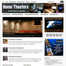 * HOME THEATER GUIDE * niche website business for sale w/ AUTOMATIC CONTENT!
