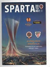 ORIG. prg Europa League 12/13 AC Sparta Praga-athletic bilbao rara vez!!!