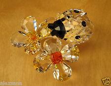 SWAROVSKI CRYSTAL FIGURINE LADYBIRD (LADYBUG) ON FLOWER 842804 / 9100 NR 000 035