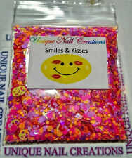 Limited Edition Glitter Mix~*SMILES & KISSES* Comes With Alloy~ Nail Art