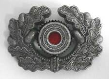 German Wreath Cockade WW2 Aluminium Metal Army Heer Visor Cap Hat Badge Aged