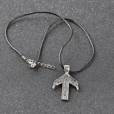 Punk Silver Jewelry Accessories Rune Viking Amulet Pendant Necklace For Men