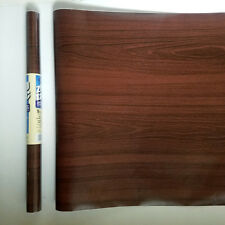9ft Chestnut brown Wood Grain Self Adhesive Shelf Liner Contact Paper