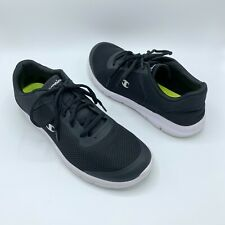 Champion Mens Sz 12 Dress shoes Black Mesh Lace Up