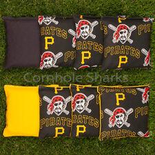 Cornhole Bean Bags Set of 8 ACA Regulation Bags Pittsburgh Pirates Free Shipping