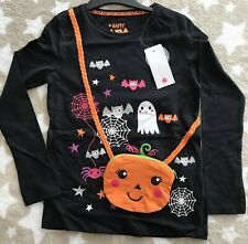 Girls Halloween black swing dress with purse bag attached 4-5 years old