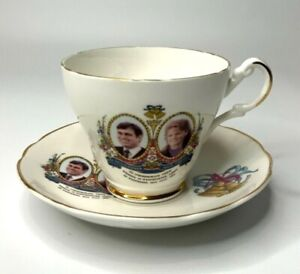 Vintage Argyle Prince Andrew and Lady Sarah Ferguson Wedding Cup and Saucer