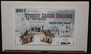 O/On3/On30/1/48/1:48 – OOP Stoney Creek Designs Grocery Store / Barber #042 OOP