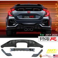 Fits Honda Civic Hatchback Type R 2017-2020 Rear Bumper Lip Conversion Kit