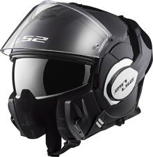 Ls2 Casque Moto Modular Ff399 Valiant Mono Gloss Noir XXL
