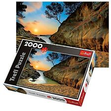 Trefl 2000 piece adulte grand costa brava sunrise espagne floor puzzle nouveau