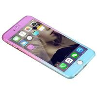 Hybrid 360° Hard Ultra thin Case+Tempered Glass Cover For Apple iPhone 6/6s Plus
