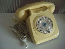GPO BT IVORY 8746G ROTARY TELEPHONE RETRO STYLE - FREEPOST