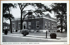 1930 Postcard: United States Post Office - Whiteville, North Carolina NC
